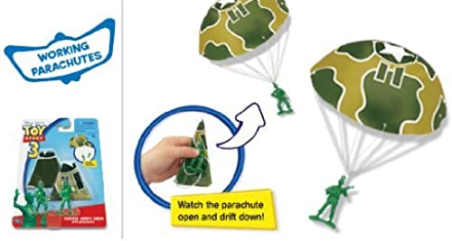 primera vez respuesta TOY STORY 3 verde ARMY MEN WITH PARACHUTES by by by Thinkway  orden en línea