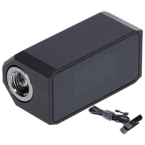 Garsentx Wasserkühlsystem Alarm, Digitales OLED Display Durchflussmesser Thermometer Durchflussmesser 3 in 1 PC Temperaturanzeige für CPU Wasserkühler