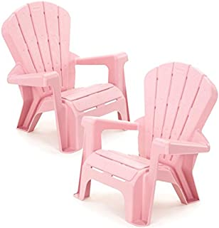 Kids or Toddlers Plastic Chairs 2 Pack Bundle,Use For Indoor,Outdoor, Inside Home,The Garden Lawn,Patio,Beach,Bedroom Versatile and Comfortable Back Support and Armrests Childrens Chairs.5 Colorful Little Tikes Contemporary Colors Make a Perfect Childs Chair. (PINK)