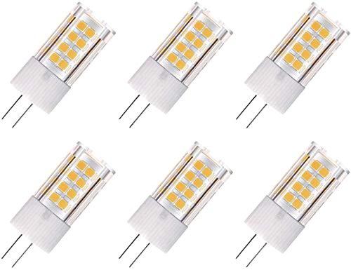 ZFQ 6er-Pack G4 AC/DC 12V LED Leuchtmittel, 5 Watt, 500 Lumen, Warmweiß 3000 K, 360 Grad Abstrahlwinkel, entspricht 50 W G4 Halogen Glühlampe, Nicht Dimmbar
