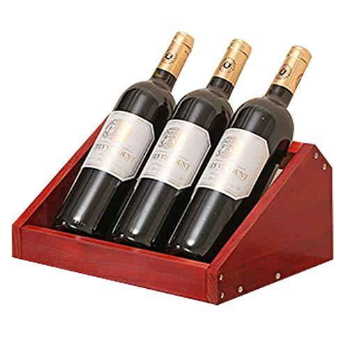 SBDLXY Holz Weinregal Flaschenhalter, freistehende Weinregal Regal Montage erforderlich, für Home Decor Bar Weinkeller Keller Schrank Speisekammer