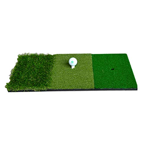 LIOOBO Tappetino da Golf per Colpire Il materassino per allenamenti Indoor Indoor Golf Verde 3 Colori Erba Lunga e Corta 30x60cm