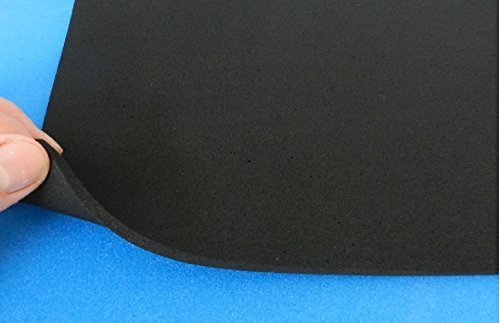 (29,96 €/m²) Moosgummimatte, ca. 500 x 500 x 5 mm, selbstklebend, Zellkautschukmatte Gummimatte Dämmmatte