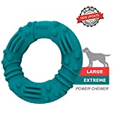 Updated Ultra Durable Dog Chew Toys for Aggressive Chewers - Lifetime Replacement Guarantee - Indestructible Natural Rubber Dog Toys - Tough Strong Tug of War Dog Toys for Large Medium Dogs 6.5inch