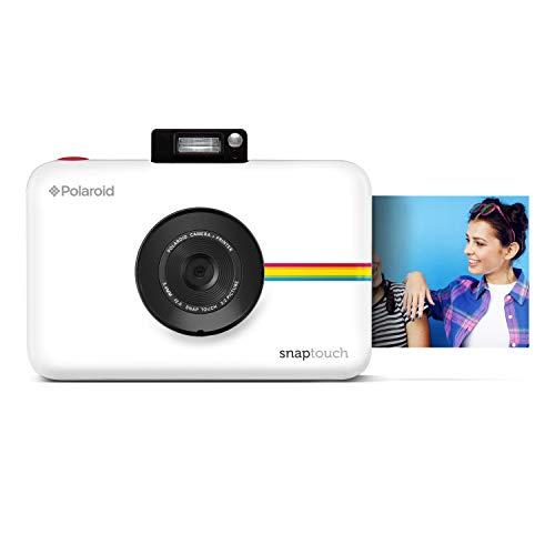Polaroid Snap Touch 2.0 - Cámara digital portátil instantánea de 13 Mp, Bluetooth, pantalla táctil LCD, tecnología Zink sin tinta y nueva aplicación, copias adhesivas de 5 x 7.6 cm, blanco