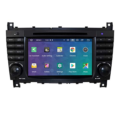 hizpo 7 Inch Double Din Car Stereo Radio with Bluetooth DVD Player GPS Can-Bus Mirrorlink RDS Multi Touch Screen for Mercedes Benz C-Class W203 CLC Class W203 CLK Class W209 2005-2011