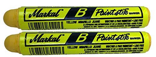 Two Markal B Yellow Tire Chalk Paint Stick Crayon Surface Markers Graffiti Art
