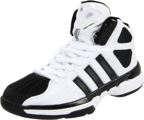 adidas Women's Pro Model Zero W Basketball Shoe,Running White/Black/Metallic Silver,7.5 M US