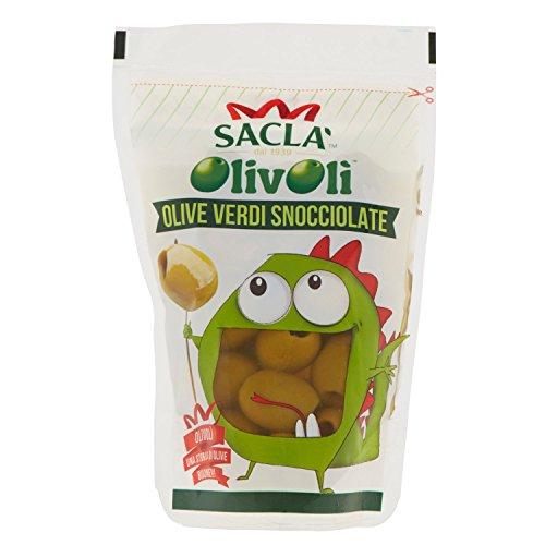 SaclàOlivolì Olive Verdi Snocciolate in Salamoia, 185g