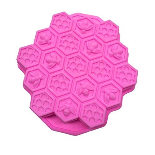 19 Grids Kuchen-Form-Farbe Random Eisstock Hersteller-Silikon-Honeycomb Shaped Gebäckform