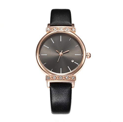 UINGKID Damen Armbanduhr Analog Quarz Einfache Gürteluhr Strass Intarsien Quarz Uhr Kh035 Serie