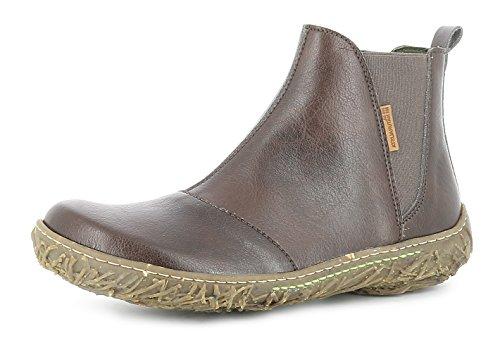 El Naturalista N786T Nido Damen Chelsea Boots,Frauen Stiefel,Halbstiefel,Stiefelette,Bootie,Schlupfstiefel,flach,Vegane Innenausstattung,Brown,EU 39