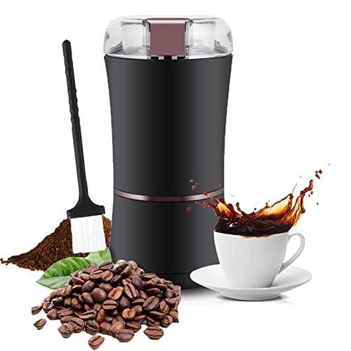 Topiky Elektrische Kaffeemühle, Professionelle 400W/ 3 Unzen Elektrische Kaffeemühle Mühle Maschine, Einstellbarer Mahlgrad mit Edelstahlklinge für Bohnen/Nüsse/Samen/Kräuter/Gewürze