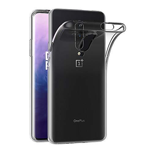 AICEK Hülle Compatible für OnePlus 7 Pro Transparent Silikon Schutzhülle für OnePlus 7 Pro Case Clear Durchsichtige TPU Bumper OnePlus 7 Pro Handyhülle (6,67 Zoll)