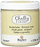 RAYHER - 38868508 Chalky Acabado Pintura 236 ml bañera, Beige