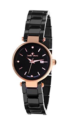 Stella Maris Damen Analog Quarz Uhr mit Keramik Armband STM17H3