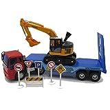 Xolye Kinderspielzeug Auto Set Kombination Bagger und Anhänger Kombination Spielzeug Auto Inertial Vorwärts Technik Fahrzeug Jungen Spielzeug Geschenk