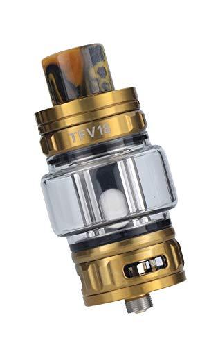 Smok TFV18 Tank Clearomizer, 7,5ml, Top-Filling, Subohm-fähig, Smok Verdampfer für E Zigarette - Farbe: gold