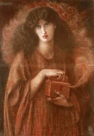 Pandora Poster Print by Dante Gabriel Rossetti (10 x 14)
