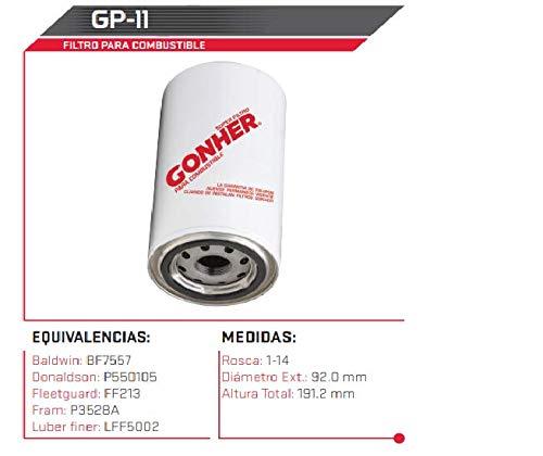 Filtro de Combustible GP-11 Gonher Envio Gratis!!