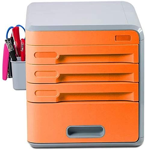 Office Storage Kast Lade Type Desktop Kabinet Stationery Debris Afwerking Storage Box (Color : Orange)