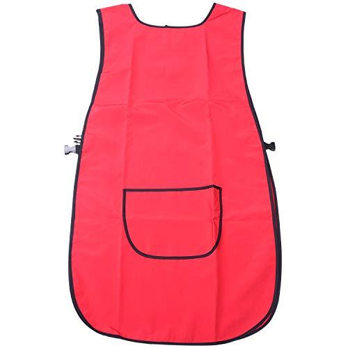 TOOGOO Tablier de Coiffure pour Femmes Coiffeuses de Salon de Coiffure Rouge pour Coiffeur Coiffeur Pratique Coiffeur Tissu