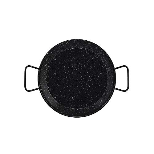 Metaltex - Paellera INDUCCION Acero Esmaltado 6 Raciones (34 cm)