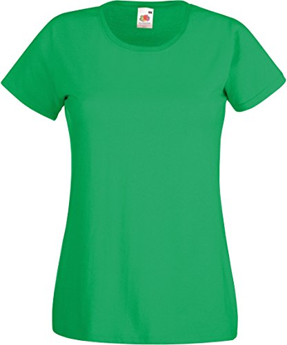 Fruit of the Loom - Lady-Fit Value Weight T / Kelly Green, L