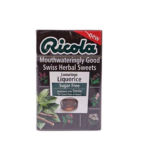 Ricola Liquorice Swiss Herb Sugar Free Drops 45g x 20 Packs