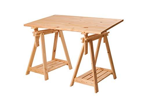 Escritorio de madera de pino macizo.
