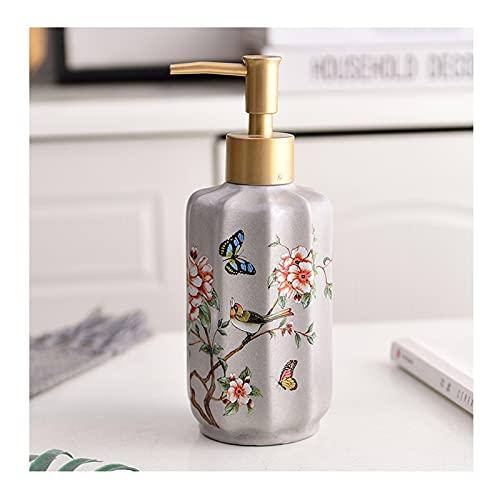 Distributore di Sapone Schiumogeno Distributore di sapone a mano del sapone della bottiglia della lozione del fiore e del fiore della ceramica adatto per la bottiglia ricaricabile della palestra del b