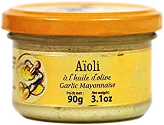 Delices du Luberon - Garlic Aioli Sauce with Olive Oil from Provence (A l'Huile d'Olive Garlic Mayonnaise), 90g Jar