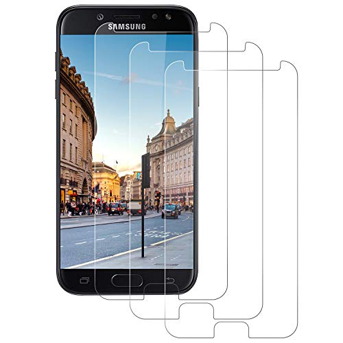 DASFOND Protector de Pantalla para Samsung Galaxy J5 2017, Cristal Templado para Samsung Galaxy J5 2017, Vidrio Templado Dureza 9H, 3D Touch Compatibles,Sin Burbujas[3 Pack]