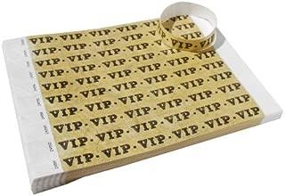 500 Count Gold VIP Premium Tyvek Wristbands by EventWristbands - Neon Event Paper Bracelets for Festivals, Parties & Fairs