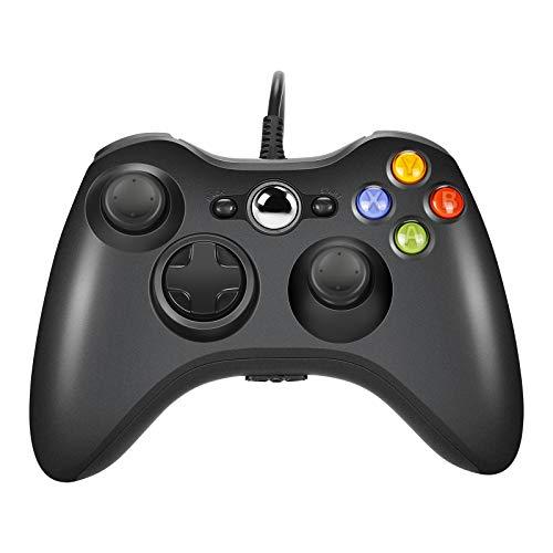 AlBetter Xbox 360-Controller, USB-Kabel-Controller und verbessertes ergonomisches Design für Windows/Slim/PC