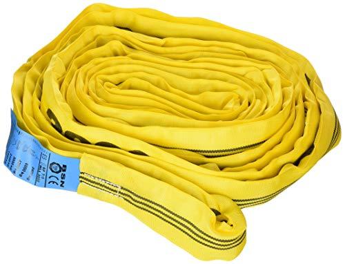 Braun GmbH 30081RS Rundschlinge 3000 kg Tragkraft, 8 m Umfang = 4 m Nutzlänge, endlos mit Polyesterkern, gelb