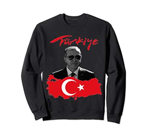 Recep Tayyip Erdogan Türkiye Flagge Sweatshirt