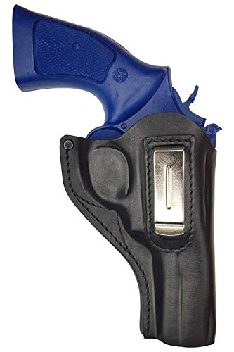 VlaMiTex IWB 14 Holster pour Revolver Smith and Wesson 586/686 / 986, en Cuir, Noir