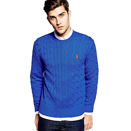 Ralph Lauren Maglioni Cable-Knit in Cotone (XXL, Royal Blue)