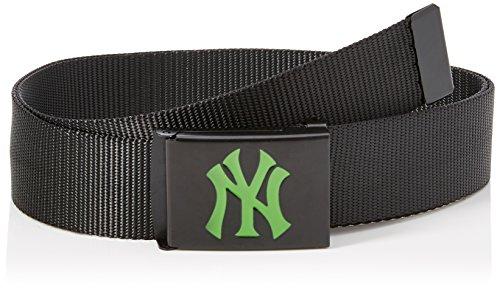 MasterDis MLB Premium Black Woven Belt Single Ceinture Fille, Vert Fluo, Taille Unique