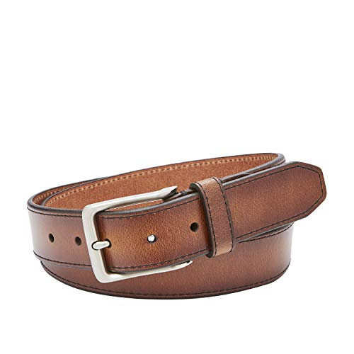 Fossil Men's Griffin Leather Casual Jean Every Day Belt, Size 36, Cognac