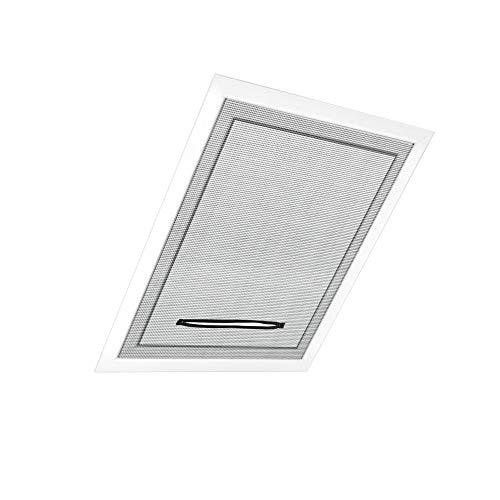 jarolift Fliegengitter für Dachfenster ohne Bohren Insektenschutz Mückenschutz, mit Reißverschluss, Kürzbar, 130 x 150 cm (B x H), Schwarz - 4er Pack