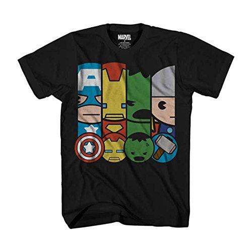 Marvel Kawaii Team Up Power Squad - Camiseta para Hombre - Negro - XX-Large