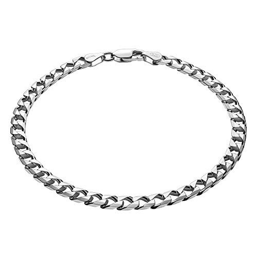 STERLL Pulsera para hombre de plata 925, 23 cm de longitude, con caja de joyas, ideal como regalo de hombre