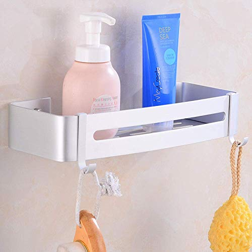 OUPPENG Metal Firm Bathroom Corner Shower Rack - Space Aluminum Corner Bathroom Triangle Basket Free Punch Bathroom Shelf Bathroom Wall-Mounted Storage Rack-Silver_(B)