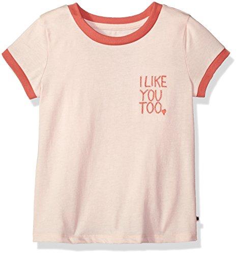 Lucky Brand Mädchen Graphic Tee T-Shirt, Jocelyn Peach Rouge, 6X