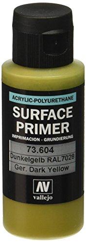 Vallejo - Apprêt pour maquette - 60 ml - Polyuréthane - Coloré German Dark Yellow