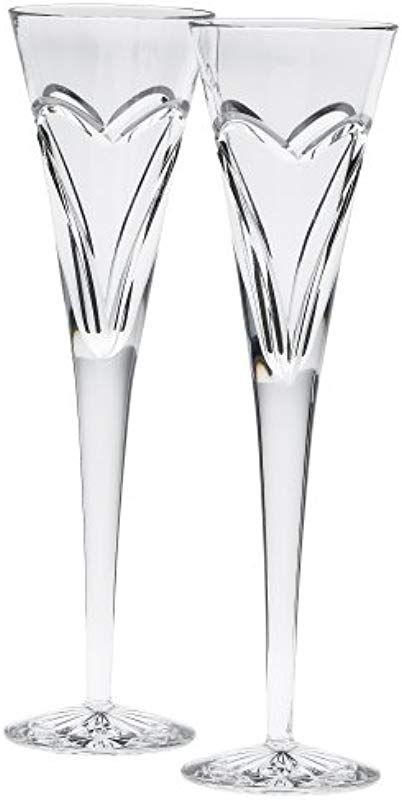 Waterford Wishes Love And Romance Flutes Set Of 2