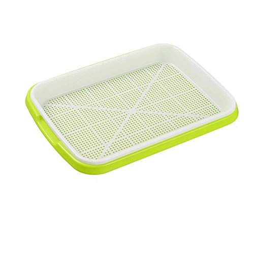 1PC Seed Sprouter Tray, Seed Germination Tray,Sprouter Nursery Tray Double-Layer Soilless Culture Beans Hydroponic Nursery Tray Seedling Tray