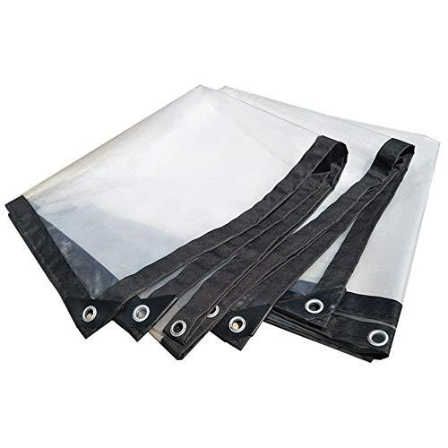 ZYLE Lona Transparente Impermeable Cubierta Resistente Resistente a la Lluvia Película de Tela plástica Antienvejecimiento Aislamiento Lona PE, Personalizable Blanco (Size : 3X3m)